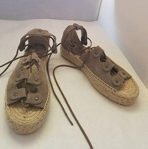 03c7c208200 Soludos Shoes - Soludos Ghillie Platform Sandal dove gray 7M
